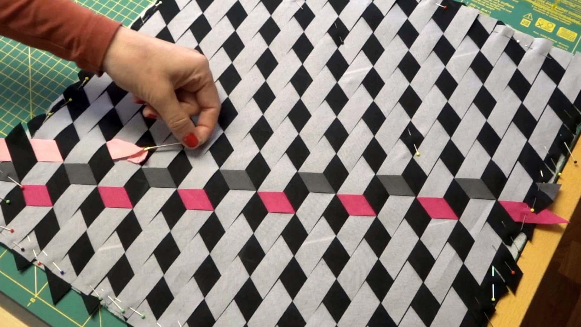 Tumbling Block Polster nähen | Knopfsache