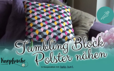 Tumbling Block Polster nähen