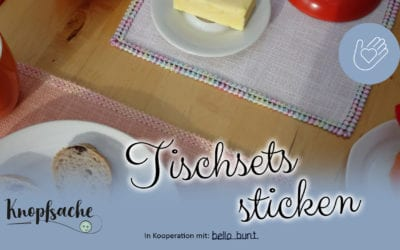 Tischset sticken mit Kästchenstich